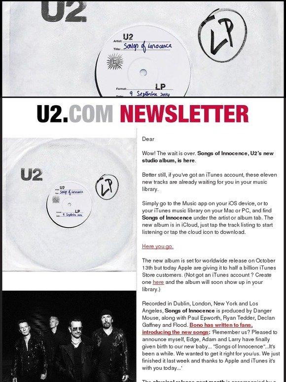 U2: Songs Of Innocence, The New Album Is Here  | Milled