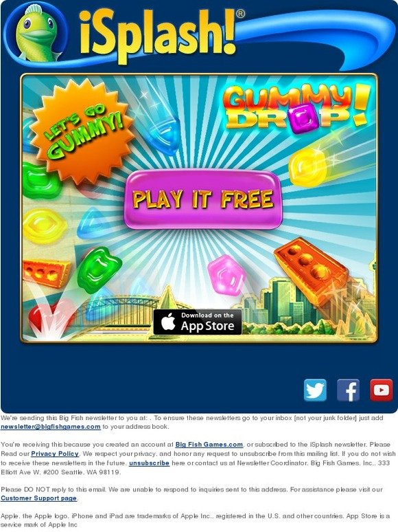 Big fish games new release gummy drop play for free for Big fish games new