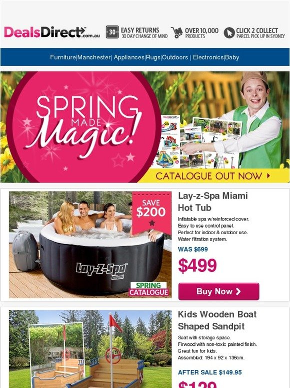 Dealsdirect Spring Catalogue On Sale Boat Sandpit 129