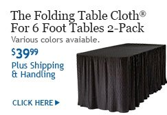 Delicieux The Folding Table Cloth® For 6 Foot Tables 2 Pack SL2: Various Colors