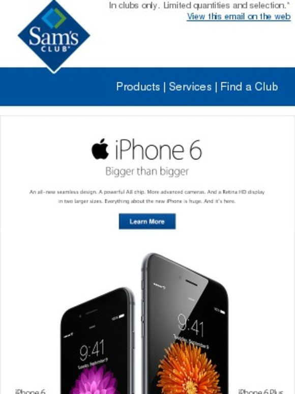 sams club iphone sam s club iphone 6 available sept 19 milled 8590