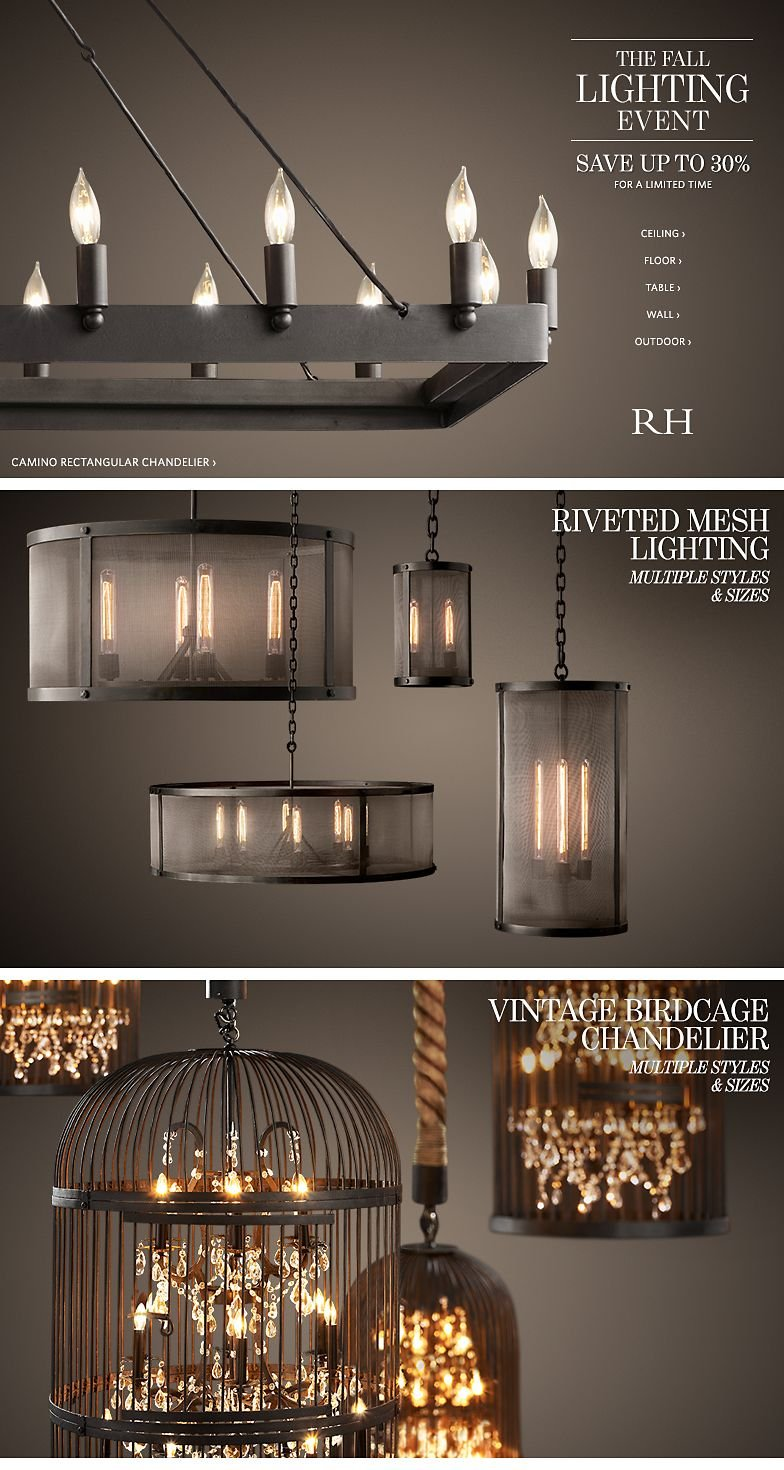 Restoration hardware save up to 30 at the fall lighting event restoration hardware save up to 30 at the fall lighting event limited time milled arubaitofo Images