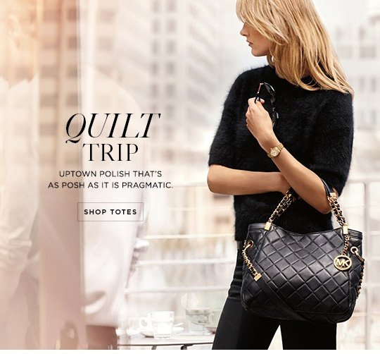 Michael Kors A Fall Essential The Quilted Bag Milled