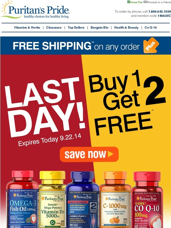 #1 US Vitamins & Health Supplements brand, Puritan's Pride, is now in the Philippines! Made from Quality Ingredients at discounted prices. Ships COD. Shop now!