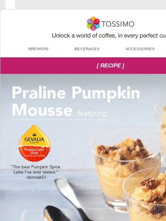 Tassimo: A recipe with spice to make Fall nice  | Milled