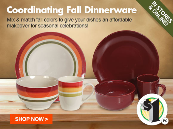 Mix u0026 match fall colors to give your dishes an affordable makeover for holiday celebrations - & Dollar Tree: Happy Fall! Shop $1 Autumn Dinnerware u0026 More! | Milled