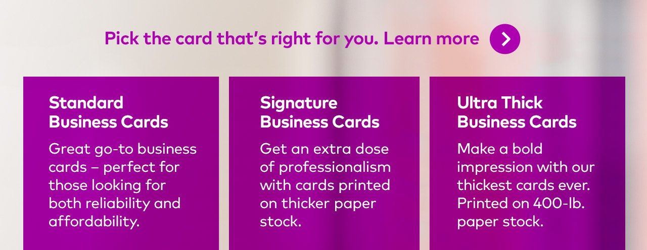 Vistaprint: Meet Signature: Our thicker, higher-quality business ...