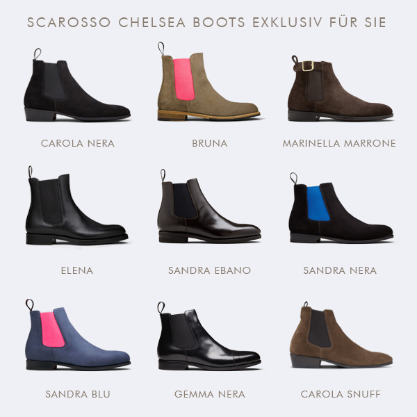 size 40 d0aeb 3394d scarosso: Walk Italian - Mit Chelsea Boots in den Herbst ...
