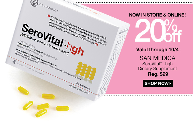 Serovital coupon code