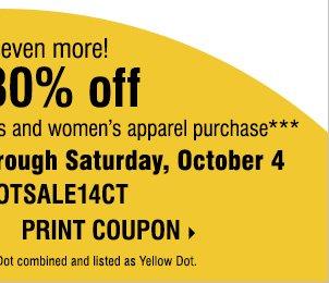 Carson yellow dot coupon code