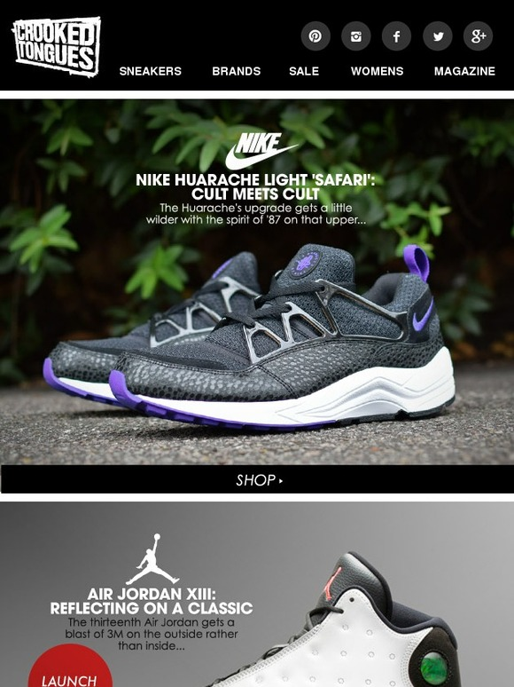 online retailer 2ee83 61029 Crooked Tongues New Balance goes triple denim, 3M Air Jordans, the Roshe  gets stealthy, elephant on a Foamposite  Safari Nike Air Huarache Lights.