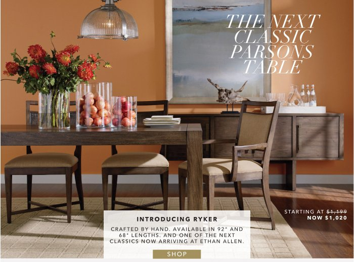 ethan allen designer dining our new ryker table now 15 off