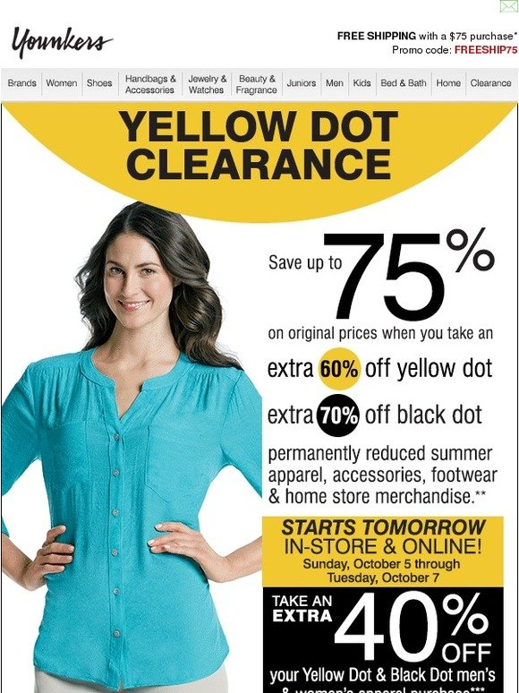 image relating to Younkers Coupons Printable referred to as Younkers 30 off yellow dot coupon / Kohls discount codes 2018 on the web