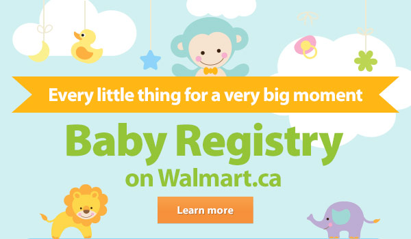 Walmart Canada Announcing Our Online Baby Registry Milled