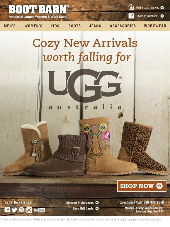 BootBarn.com: New Arrivals From UGG Australia | Milled