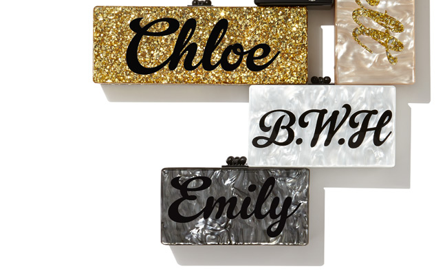 new edie parker custom clutches