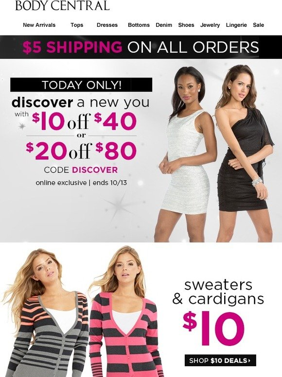 Body Central Sale >> Body Central Email Newsletters Shop Sales Discounts And