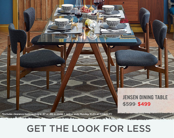 West Elm Week Left Dine In Style Save Milled - West elm jensen dining table