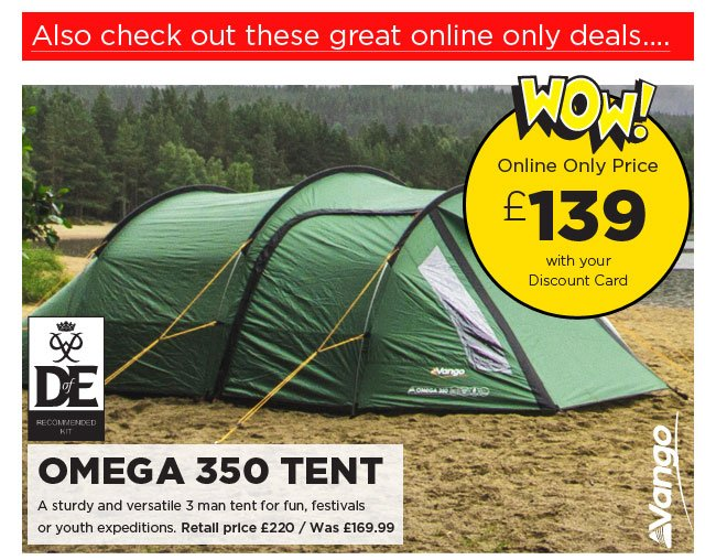 Vango Omega 350  sc 1 st  Milled & Go Outdoors: Save 25% off Craghoppers | Outwell Nevada tent £249 ...