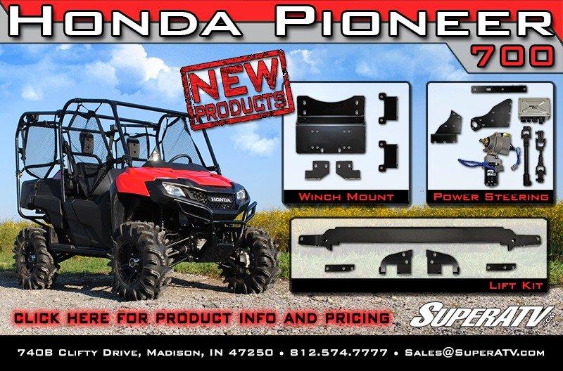 Super Atv New Honda Pioneer 700 Accessories Milled