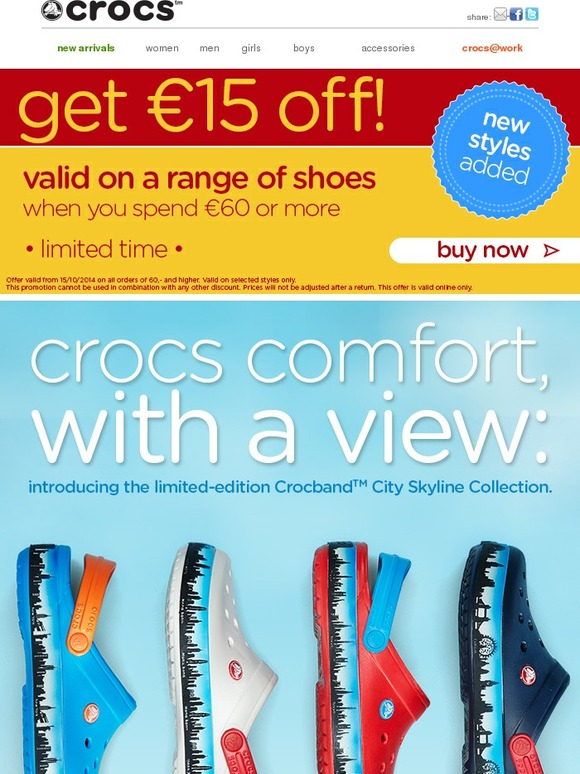 6752b99c8e9b Crocs  New in  Crocs Skyline collection
