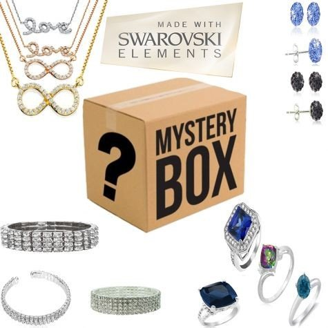 Mobstub Swarovski Elements Mystery Jewelry Box 15 USB Power