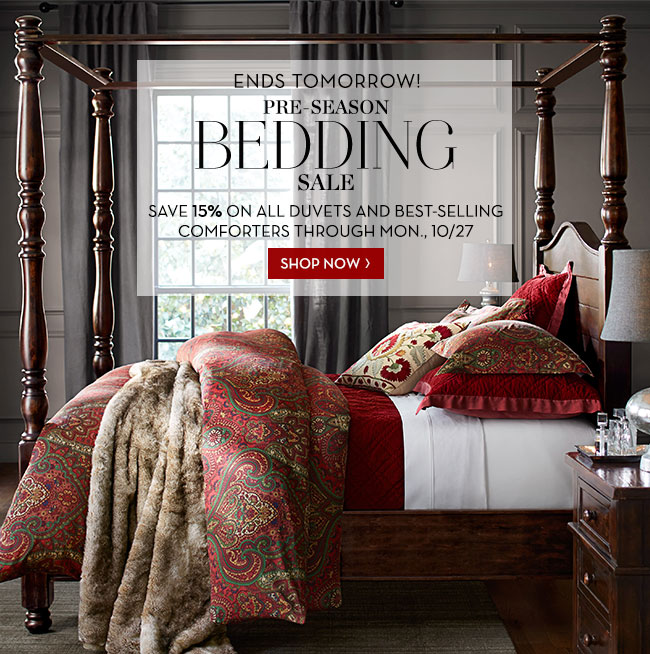 Pottery Barn Days Left To Save On All Duvets At The Pre Season