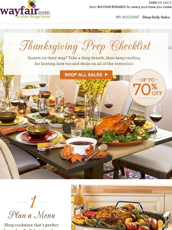 Wayfair Our Thanksgiving Sale Is On Up To 70 Off