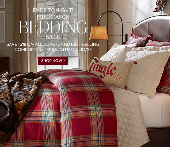 Pottery Barn Say Good Night To Our Pre Season Bedding Sale Ends