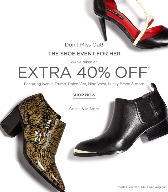 Extra 40% off Women's Shoes