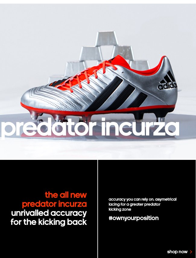 Your position with the new adidas liquid silver rugby boots milled
