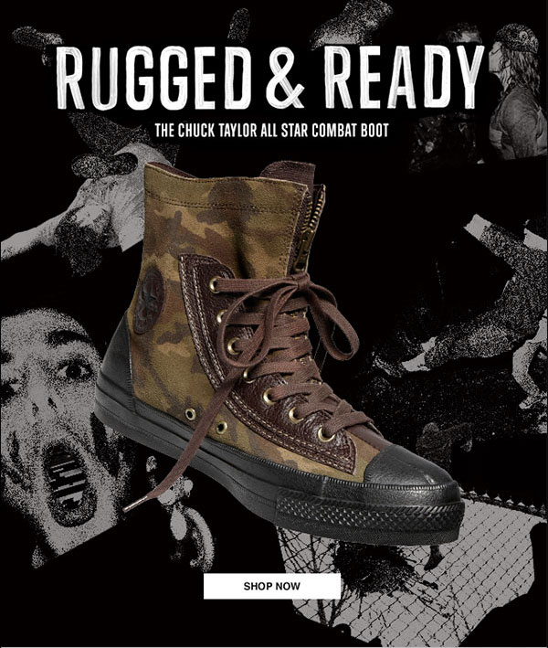 Chuck Taylor All Star Combat Boot.   Milled