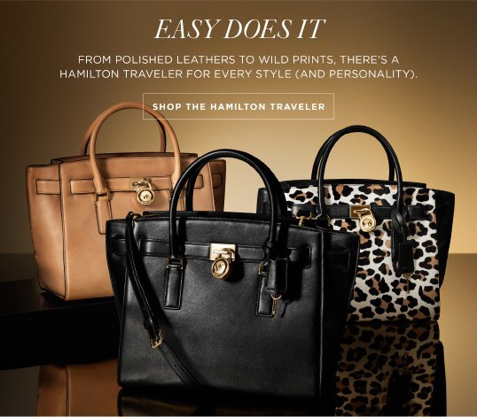 Michael Kors The Hamilton Traveler Spot On Milled