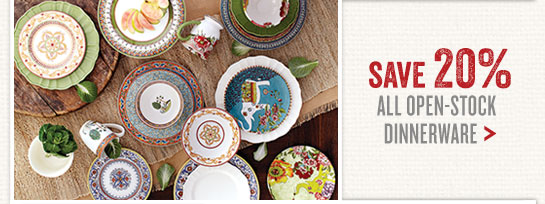 Save 20% on All Open-Stock Dinnerware  sc 1 st  Milled : open stock dinner plates - pezcame.com