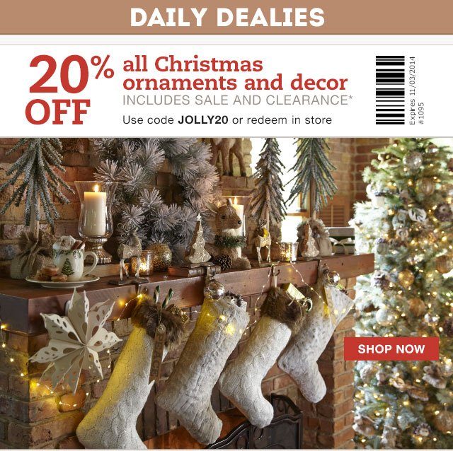 Pier 1: Daily Dealy: Save on all Christmas decor. | Milled