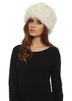 Winter White Thick Faux Fur Cossack Hat