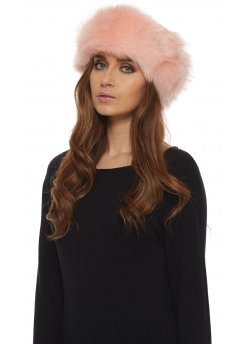 Baby Pink Thick Fluffy Faux Fur Headband