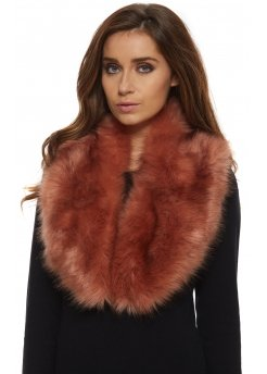 Dark Pink Thick Soft Fluffy Faux Fur Collar