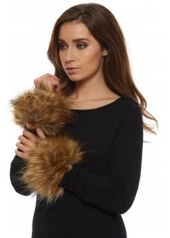 Thick Fox Effect Fluffy Faux Fur Cuffs
