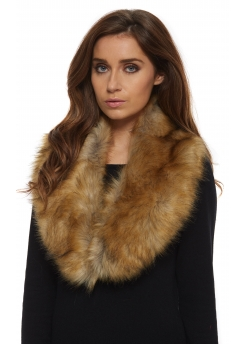 Fox Black Tipped Thick Soft Fluffy Faux Fur Collar