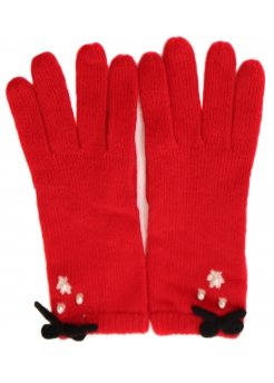Vintage Pearl Red Gloves