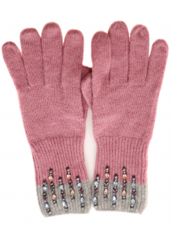 Pink & Grey Delicate Pearl & Gem Gloves