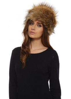 Fox Black Tipped Thick Faux Fur Cossack Hat