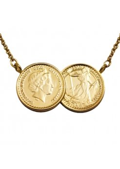 Grand Classic Two Coin Gold Necklace