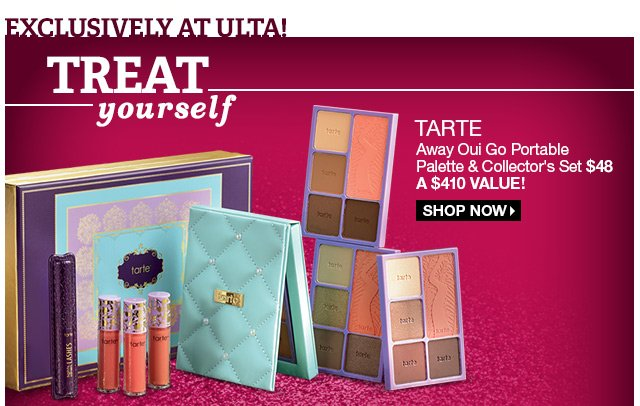 Exclusively at ULTA! Tarte Away Oui Go Portable Palette & Collector's Set $48 - A $410 Value! Shop Now