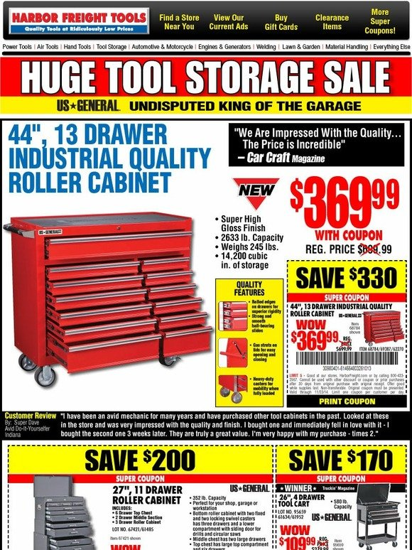 photograph about Northern Tool in Store Coupons Printable titled Harbor freight placing resource cupboard coupon - Only be