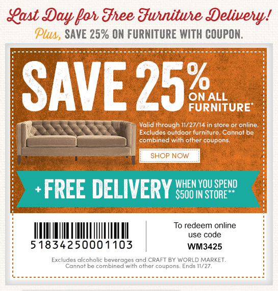 Save 25% On All Furniture With Coupon