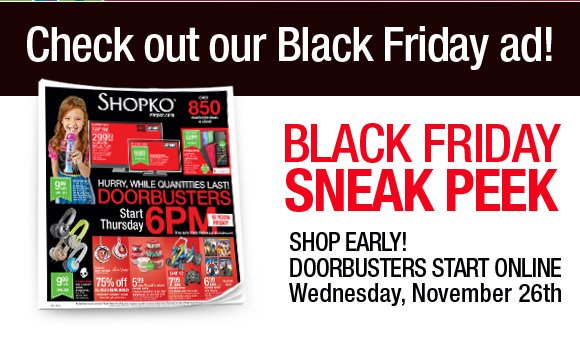 Shopko The Black Friday Ad Is Here Milled