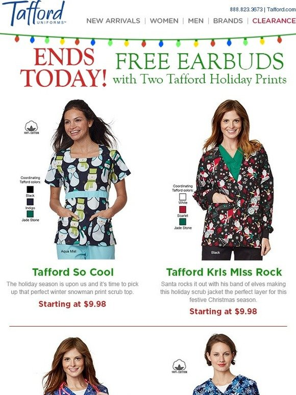 17be4861b16 Tafford Uniforms: Hurry, free gift with Prints ends | Milled