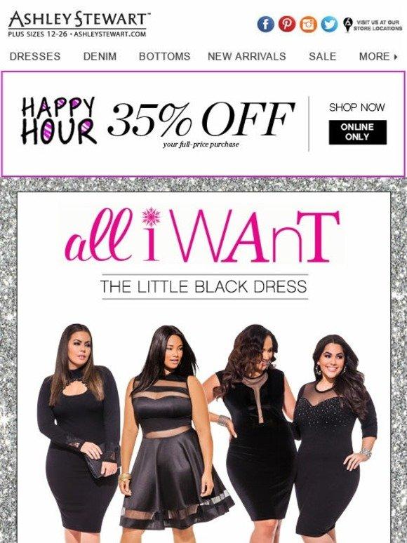 Ashley Stewart The Little Black Dress Milled